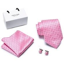 New Plaid Pink  ties set Extra Long Size 145cm*8cm Necktie Black Paisley Silk Jacquard Woven Neck Tie Suit Wedding Party