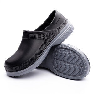 Image 2 - Hot Work Wear Kitchen Work Shoes Waterproof Flat Sandals for Chef Master Comfortable Restaurant Slippers Quick Dry Chef Shoes