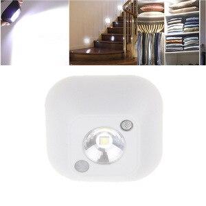 Image 3 - Aimkeeg lampe murale à capteur de mouvement à infrarouge PIR à LED, alimentée par batterie, éclairage de nuit pour un placard, escalier