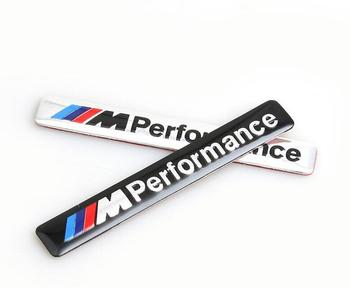M Performance Motorsport Metal Logo Car Sticker Aluminum Emblem Grill Badge for BMW E34 E36 E39 E53 E60 E90 F10 F30 M3 M5 M6#480 image