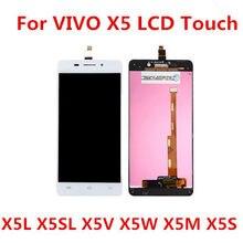 Para vivo X5L X5SL X5V X5W X5M X5S display LCD Dispaly Com Tela de Toque Digitador Assembléia para vivo X5L X5SL x5V X5W X5M tela