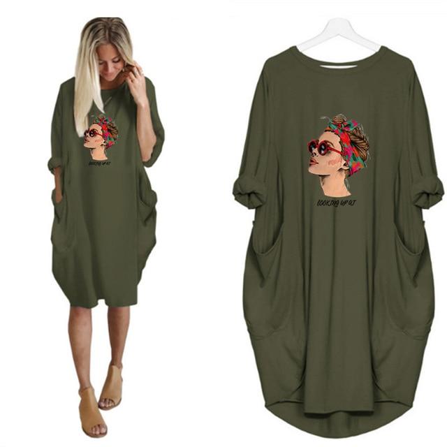 Фото женские платья с длинным рукавом и карманом круглым вырезом цена