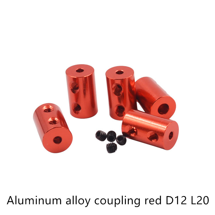 Aluminum Alloy Coupling diameter 12mm length 20 3D Printers Parts red Flexible Shaft Coupler Screw Part For Stepper Motor image