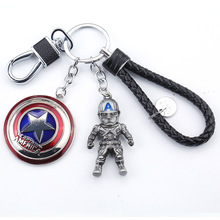 Fashion Avenger Avengers Union Keychain Metal Car Pendant Creative Gift Car Key Chain Man Wei Anime Ornament Key Ring the avengers thanos gauntlet keychain movie infinite gloves stone metal car key chain man bag pendant key ring