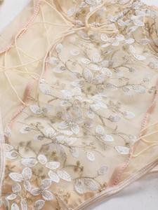 Кружевное боди с цветочной вышивкой, женское нижнее белье пуш-ап, экзотическое женское сексуальное прозрачное боди на бретельках