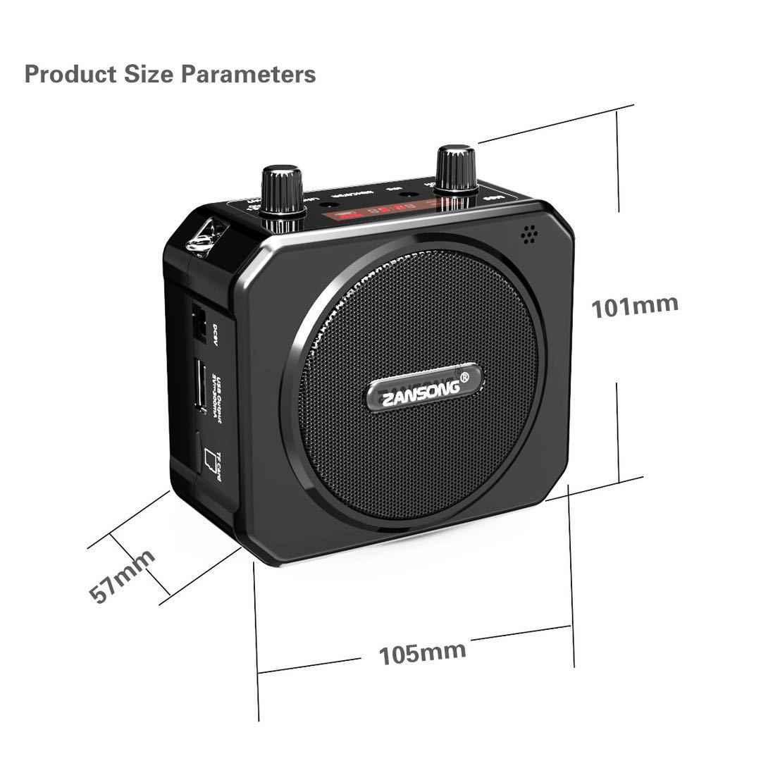 Draagbare Bluetooth Voice Versterker Uhf Draadloze Megafoon Met Microfoon Riem Mini Megafoon Ondersteuning Usb Aux Tf Fm Radio Speler