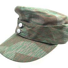 WWII SPLINTER Military-Cap M43 Reproduction German Army ELITE WW2 FIELD Camo-Hat In-Sizes