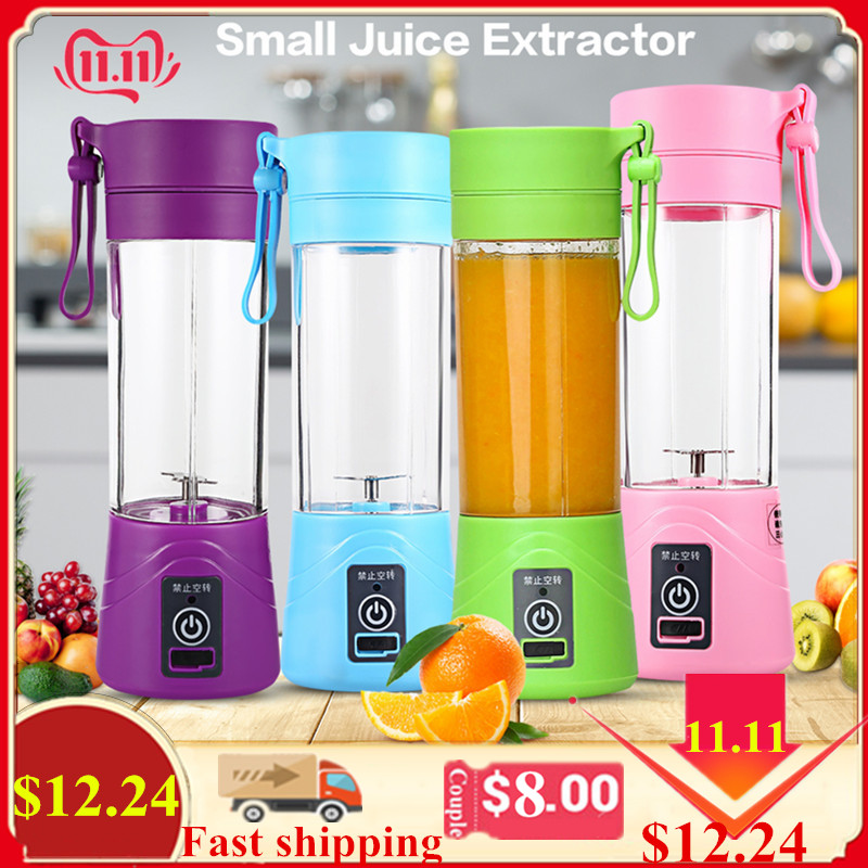 380ml Multipurpose Portable Blender Juicer Mixer Plastic Charging Extractor Blender Mode USB Egg Whisk/Juicer/Food Cut Mixer