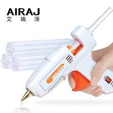 цена на AIRAJ Hot Melt Glue Gun 70W/80W/60-100W/120W/150W with 5/10 Glue Stick and EU Conversion Head High Power Heating Bonding Tool