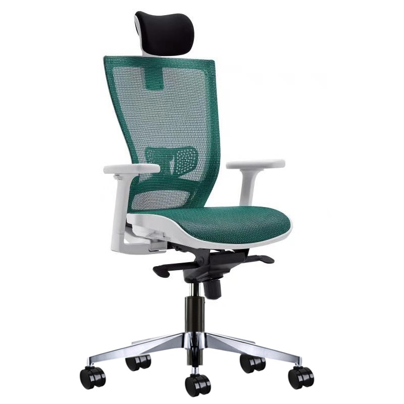 Swivel Office Chair Head Rest With Aluminum 5-Star Base / Max.Inclination 135 Degees, Adjust 45-53cm Seat High / 8-Year Warranty
