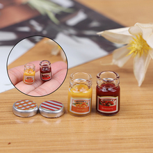Jam Toy-Accessories Doll Sauce Miniature-Food Strawberry Kitchen Honey for 1:12 2PCS