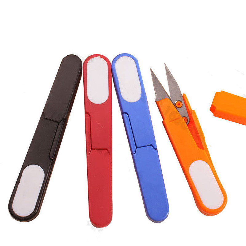 1 Pcs Fishing Tool Stainless Steel Blade Plastic Cross Stitch Cable Scissor Fishing Line Scissor Cutter Cap Fishing Essential