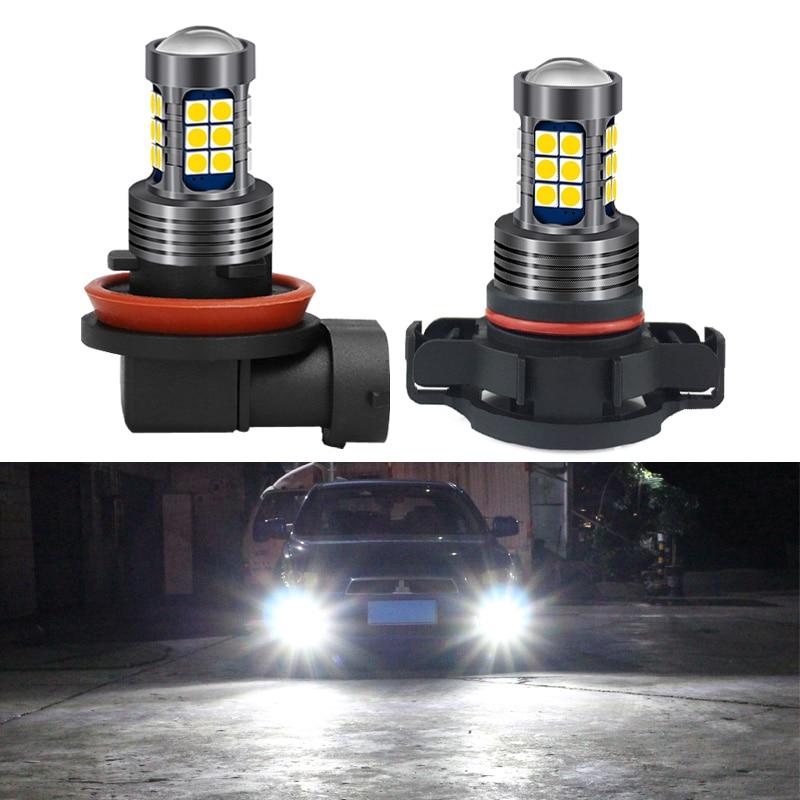 1pcs Car Auto Fog Lights H8 H11 H10 9145 H16 9006 HB4 PSX24W 2504 9005 HB3 P13W PSX26W LED 12V Bulb DRL Daytime Running Lamp