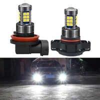 Luces antiniebla automáticas para coche, bombilla LED de 12V, DRL, lámpara de circulación diurna, H8, H11, H10, 9145, H16, 9006, HB4, PSX24W, 2504, 9005, HB3, P13W, PSX26W, 1 Uds.