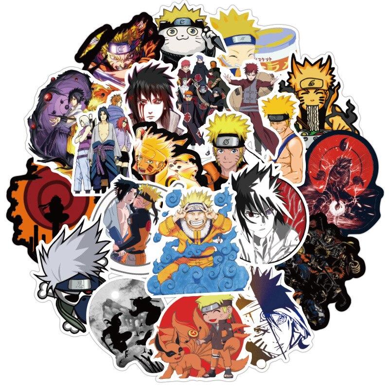 100 Pçs/lote Adesivo Japão Anime Naruto Dos Desenhos Animados adesivos para Snowboard Bagagem Laptop Geladeira Carro-Styling Vinyl Decalque Adesivos
