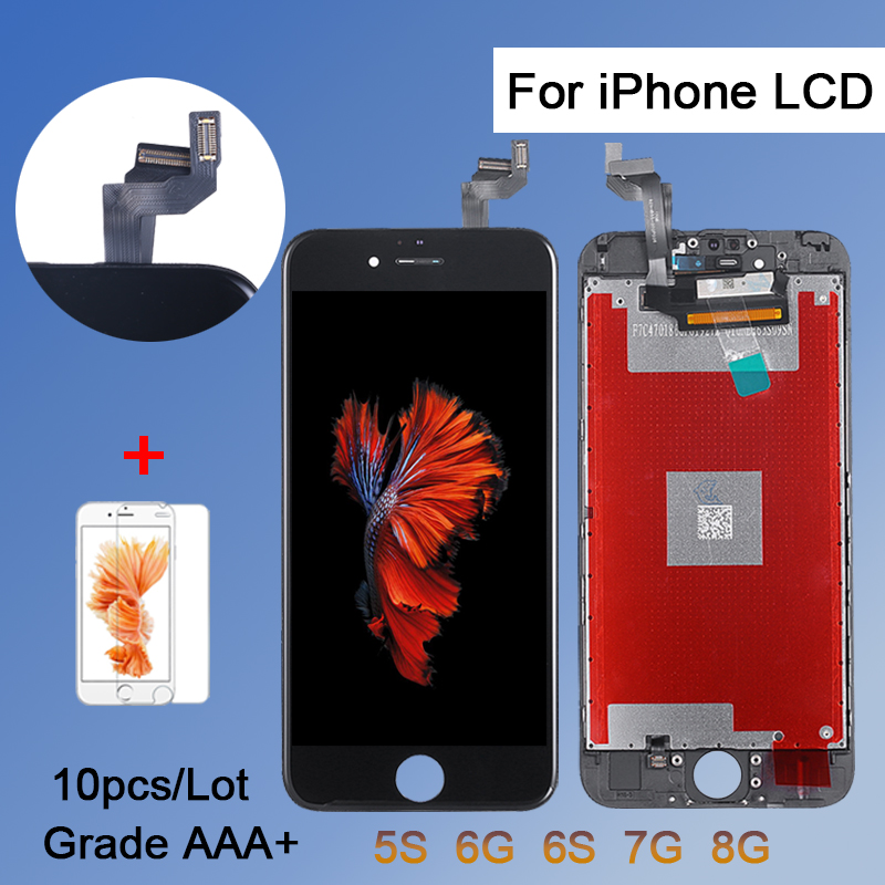 10PCS TIANMA For iPhone 6 6S 7 8 LCD display 4.7 inch AAA screen digitizer with touch screen assemblyFree DHL(China)