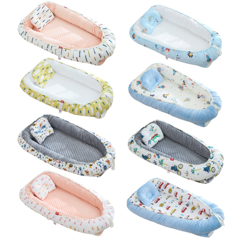 Dismountable Baby Nest Bed Portable Baby Crib Newborn Travel Bed Sleeper Double-sided Baby Nest Newborn Toddlers Bassinet