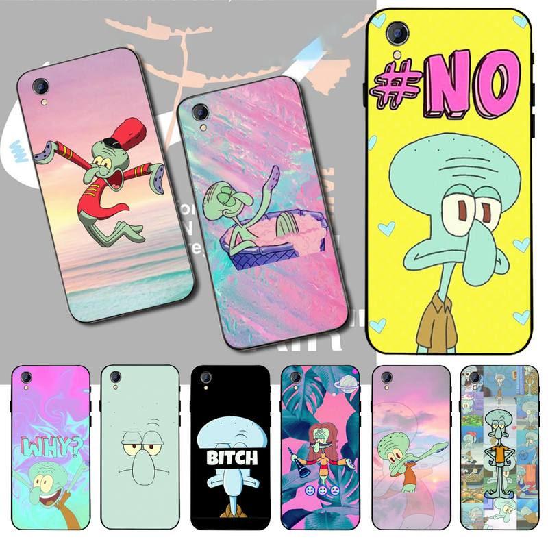 HPCHCJHM Squidward Cover Black Soft Shell Phone <font><b>Case</b></font> For <font><b>Vivo</b></font> Y91c <font><b>Y17</b></font> Y51 Y67 Y55 Y93 Y81S Y19 Y7S <font><b>Case</b></font> image
