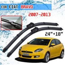 Dla Fiat Bravo 2007 2008 2009 2010 2011 2012 2013 akcesoria przednie okno samochodu przedniej szyby pióra wycieraczek do przedniej szyby pędzle do Cutter