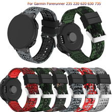 Fashion Soft Silicone Watch Strap Replacement Wrist Watch Band For Garmin Forerunner 735/220/230/235/620/630 Watchband Wristband replacement wristband wrist strap for garmin forerunner 235 220 620 630 735 735xt smartwatch fashio silicone watch band bracelet
