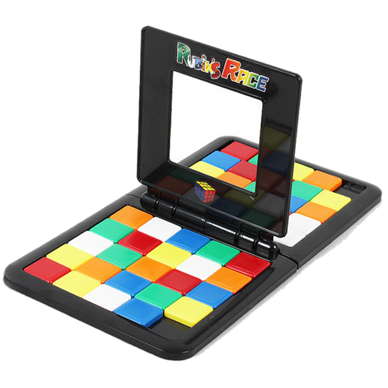 Color Battle Square Race Game Square Parent-Child Interaction Square Desktop Educational Toys Puzzle