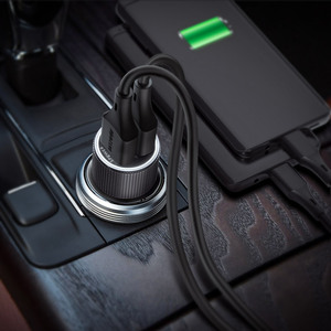 Image 5 - BlitzWolf Mini Car Charger สำหรับโทรศัพท์มือถือ 30W QC3.0 2.4A Dual USB พอร์ตชาร์จ DC 12 24V สำหรับ iPhone 11 Pro Xiaomi Mi 9