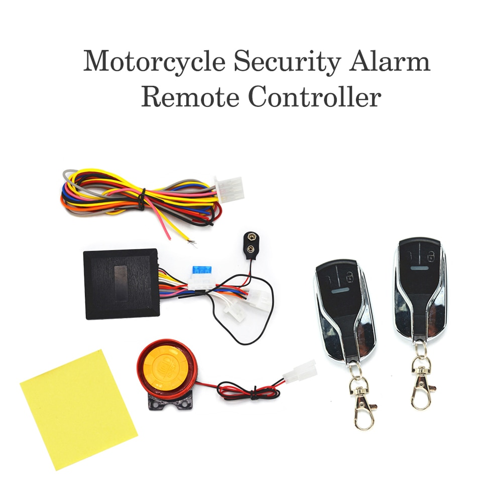 12V Motorcycle Theft Protection Bike Anti-theft Secure Alarm System Motorcycle Lock Remote Control Engine Start