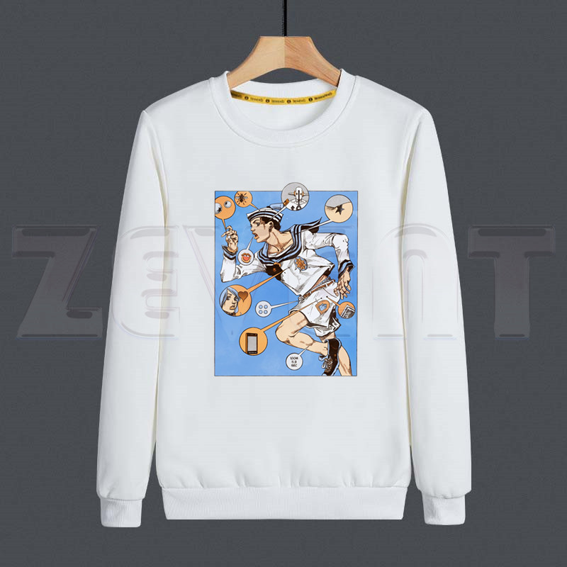 JoJo Bizarre Adventure Stone Ocean Steel Ball Run JoJo Lion Men Hoodies Sweatshirt Print Trend Mens Clothes Hip-Hop Male