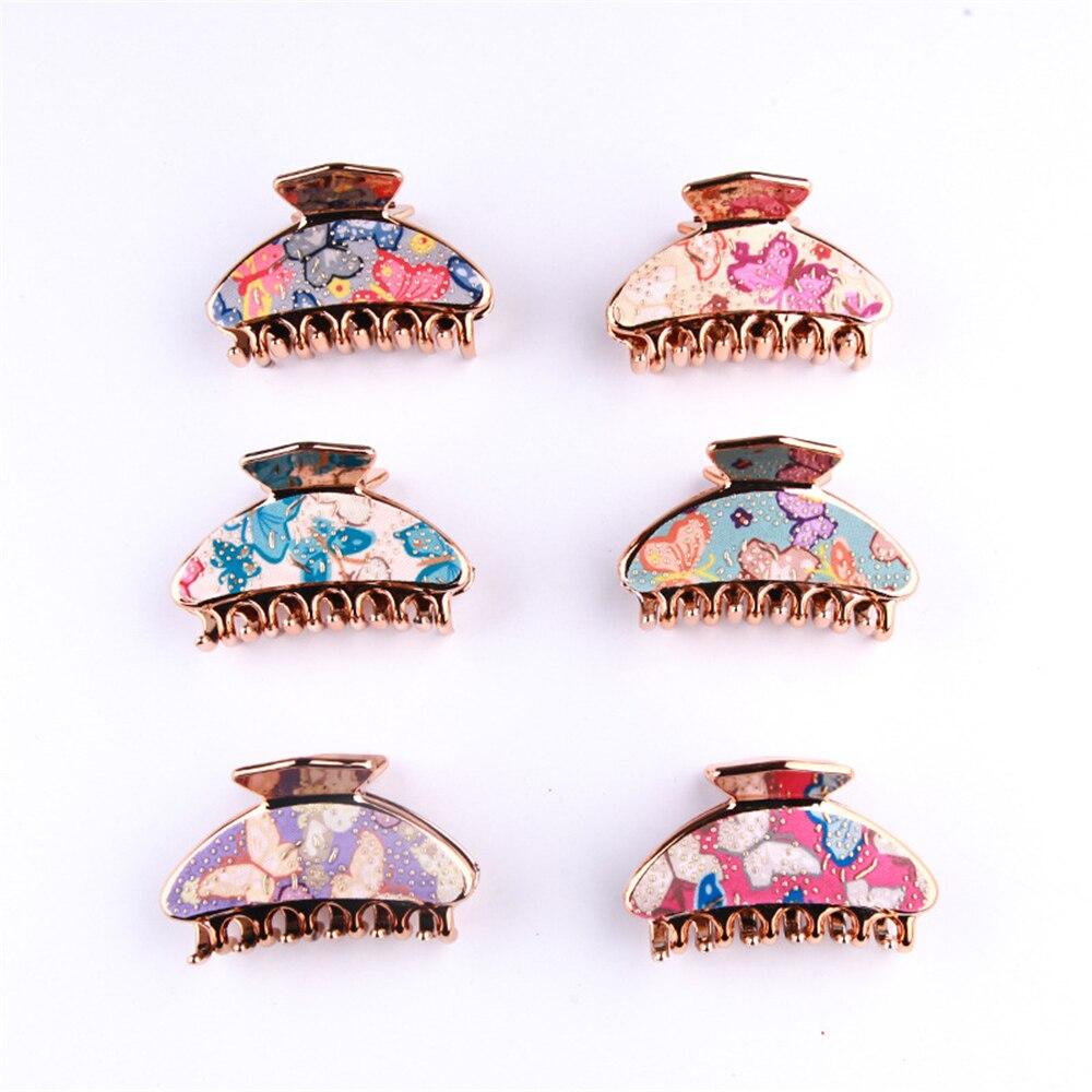 1PC Fashion Butterfly Pattern Hair Claws Women Elegant Hairpins Crab Barrettes Hair Clips Hairgrips Headwear Hair Accessories