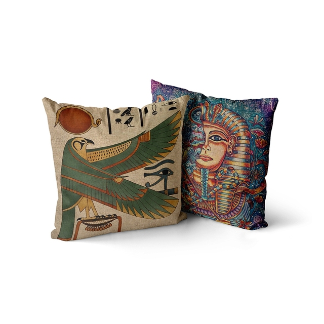 Egyptian Throw Pillow Case  2