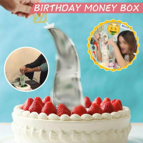 Birthday Cake Baking Decorations Money Box Funny Pulling Money Props For Birthday Party
