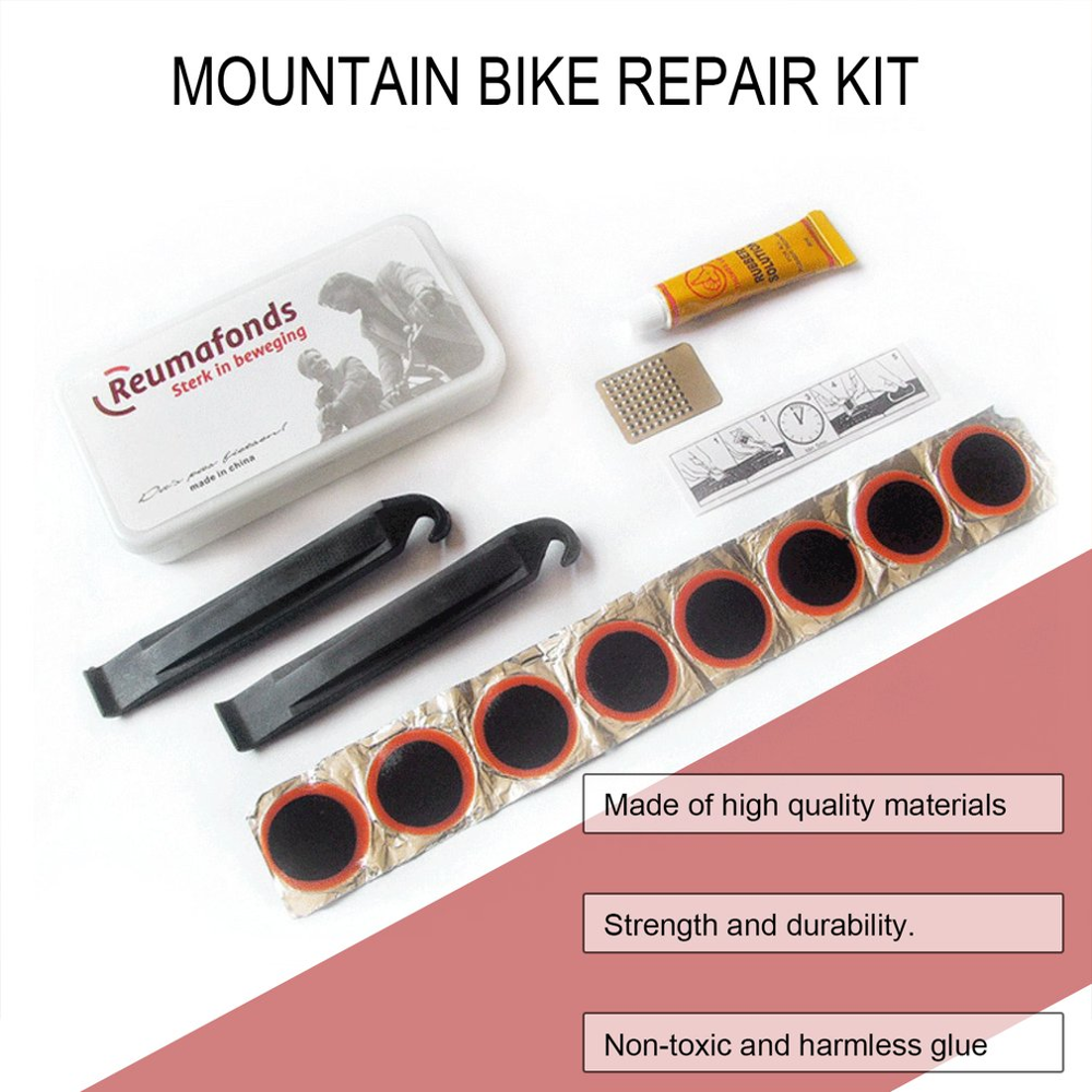 MTB Bike Tyre Patch Puncture Maintenance Tyre Patch Rubber Cycling Motor Bicycle Patch Kit Repairing Tools Emergency Tire Fix Ki