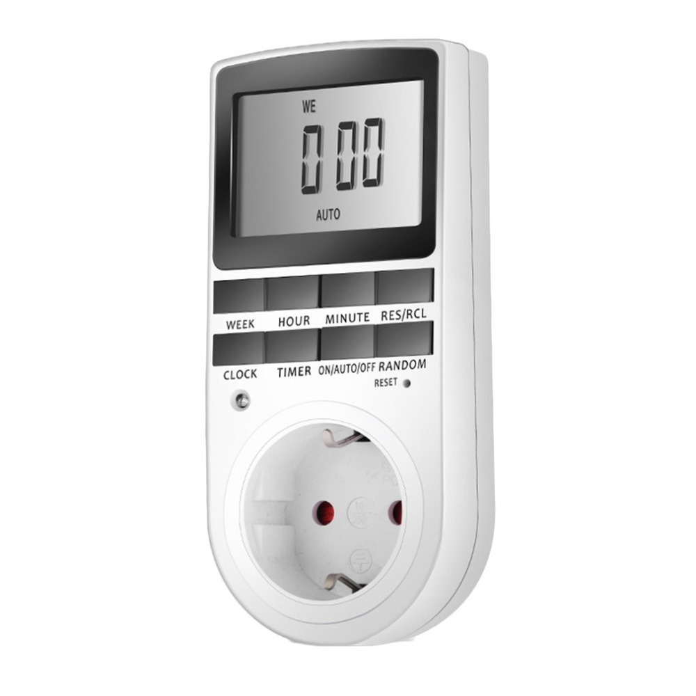 KWE-TM02 Electronic Digital Timer Switch Plug Kitchen Timer Outlet 230V 50HZ 7 Day 12/24 Hour Programmable Timing Socket