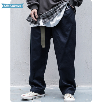 Mens clothing Hip Hop Harajuku Letter Embroidery Cargo Pants 2020 Streetwear Casual Loose Trousers Joggers Fashion oversized
