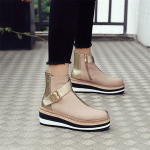 Image 4 - FEDONAS Cow Suede Leather Women Ankle Boots Warm Autumn Winter Riding Boots Platforms Zipper Shoes Woman High Heels Female Shoes