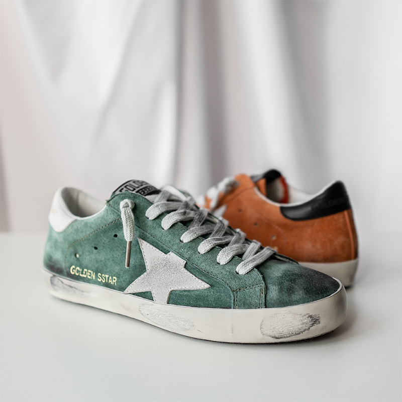 Ulzzang| Old Dirty Shoes In The East Gate Of South Korea Star Leather Sneakers Lace Up Students' Flat Sole Single Shoes Trend