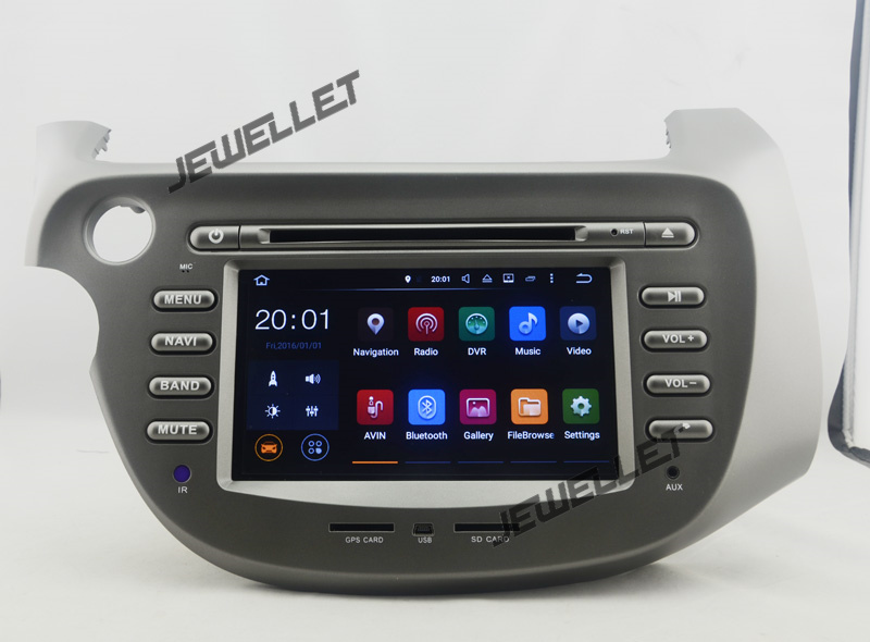 Octa core IPS screen  Android 9.0 Car DVD GPS radio Navigation for Honda fit Jazz 2009 2013 with 4G/Wifi  DVR OBD 1080P|Car Multimedia Player| |  - title=