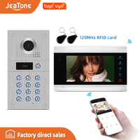 JeaTone 7'' WIFI Tuya Smart Video Door Phone Intercom System with 720P/AHD Doorbell Recording Support iOS/Android Remote Unlock