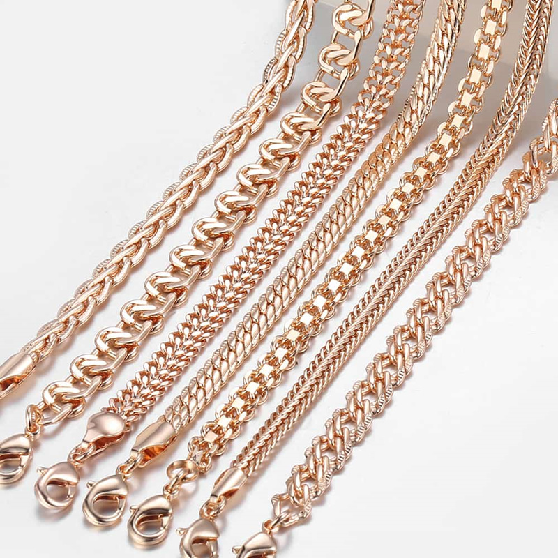 Le Jeune moderne.Accessoires-Chaine doré pour homme ou femme. 2 longueurs au choix Plaqué Or rose 585-Bijoux indispensabledujeune moderne, nous vous proposons un grand choix de chaine pour hommes comme pour femmes doré à l'or rose 585 en deux longueurs au choix.