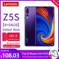 Global Version Lenovo Mobile Phone Z5S 2340*1080 Rear AI Zoom 3 Camera Smartphone 6.3 Inch Octa Core 710 Processor 4G Lte Phone