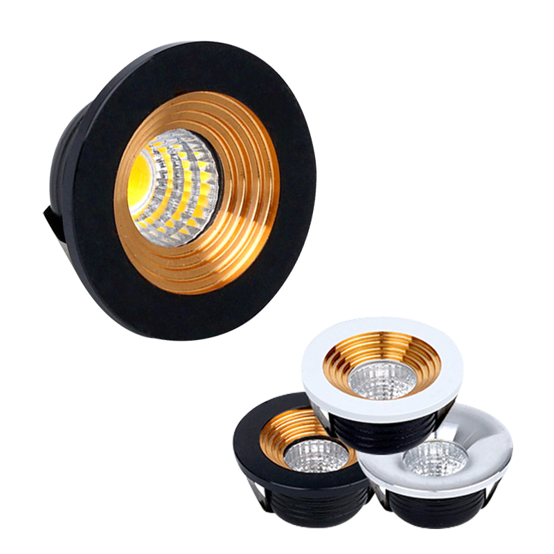 Spot LED Mini Cabinet Lights 110V 220V Downlight 35mm Cut Hole Ceiling Recessed Lamp For Jewelry Cabinet Display