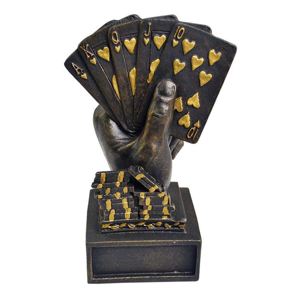 Hot Sale Poker Trophy Hand Trophy Resin Trophy Car Party Decoration Perfect Gift High Quality Fast Delivery