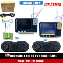 "GV300 Mini consola de vídeo de TV con 108 juegos clásicos, 3,0 "", TFT, Retro, soporte de máquina, 2,4 GH, inalámbrica, dos jugadores"