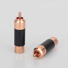 Audiocrast A081 Pure copper Plated RCA Audio Plug  RCA Connector RCA male plug adapter Video/Audio Wire Connector Support 9mm W