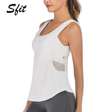 Sfit Frauen Mesh Atmungs Yoga Tank Tops Ärmellose Lauf Shirts Sport Workout Sport Weste Active Westen Lose Yoga Süße(China)