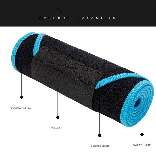 Sports Waist Weight Loss Sweat Band Wrap Fat Tummy Stomach Sauna Sweat Belt Running Gym Fitnes Exercise Elastic Waist Belt 5