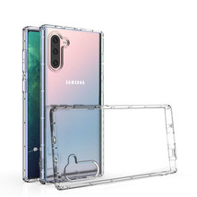 Drop Protection Thin Flexible Clear TPU Case for Samsung Galaxy Note 10 Pro 9 8 S10 S8 S9 Plus A10 A20 A30 A40 A50 A60 A70 Cover(China)