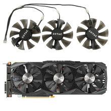 3 pcpçs/set ga91s2h gtx 1070 placas gráficas fãs gpu cooler para zotac geforce gtx 1070 ZT-P10700I-10P videp cartão de refrigeração