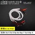Wylie 617 Ic Услуги специальный Мощность кабель для Iphone 4/5/6/6s/7/8 Plus/x Xs Max Xr Тесты загрузки кабель регулируемого постоянного тока Питание