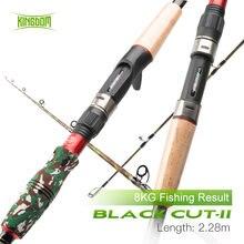 Рыболовная удочка kingdom black cut ii из углеродного волокна